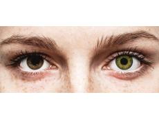 Groene Gemstone Green contactlenzen - met sterkte - Air Optix Colors (2kleurlenzen)