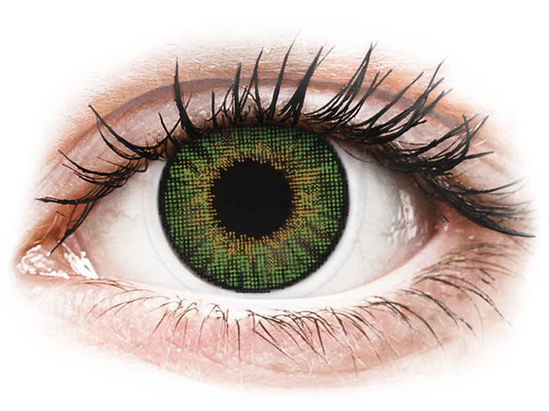 Groene contactlenzen - met sterkte - Air Optix Colors (2kleurlenzen)