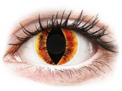 Oranje Saurons Eye contactlenzen - ColourVue Crazy (2 kleurlenzen)