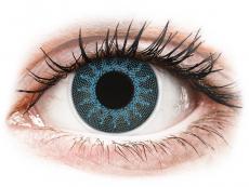 Blauwe Solar Blue contactlenzen - met sterkte - ColourVue Crazy (2 kleurlenzen)