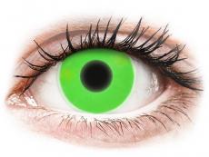 Groene Crazy Glow contactlenzen - ColourVUE (2kleurlenzen)