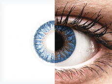 Blauwe True Sapphire contactlenzen - met sterkte - TopVue Color (2kleurlenzen)