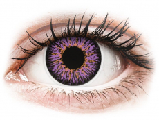 Paars Violette contactlenzen - ColourVUE Glamour (2kleurlenzen)