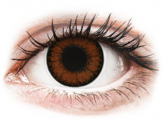 Bruine Pretty Hazel contactlenzen - ColourVUE BigEyes (2kleurlenzen)