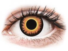 ColourVUE Crazy Lens - Orange Werewolf - zonder sterkte (2 gekleurde daglenzen)