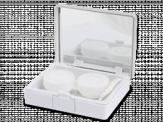 Lenzenhouder kit met spiegel - Elegant zilver