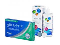 Air Optix plus HydraGlyde for Astigmatism (6 lenzen) + Gelone 360 ml
