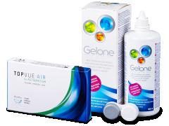 TopVue Air for Astigmatism (3lenzen) + lenzenvloeistof Gelone 360 ml
