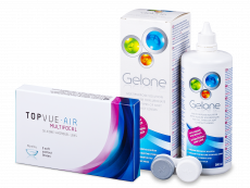 TopVue Air Multifocal (3 lenzen) + Gelone Solution 360 ml
