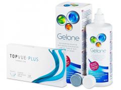 TopVue Monthly Plus (6 lenzen) + Gelone Lenzenvloeistof 360 ml