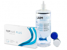 TopVue Monthly Plus (6 lenzen) + Laim-Care lenzenvloeistof 400 ml
