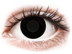 CRAZY LENS - Black Out - met sterkte (2 gekleurde daglenzen)