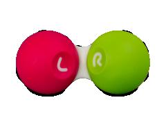 Houder voor contactlenzen - roze & groen
