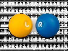 Houder voor contactlenzen - geel & blauw