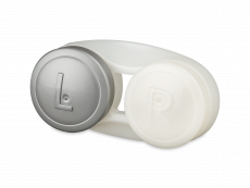 Antibacteriële lenzenhouder - grijs